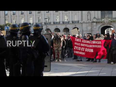 France: Police face-off with anti-brutality protesters in Rennes