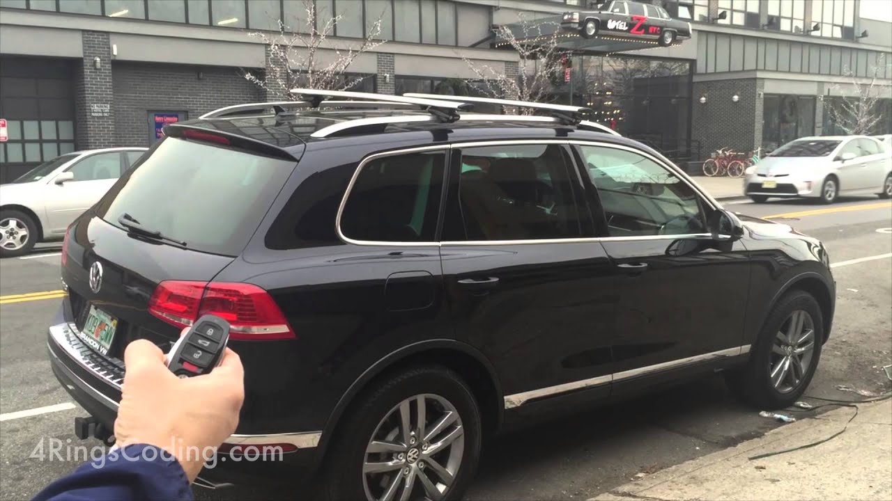vw touareg 7p close trunk windows with key fob youtube. Black Bedroom Furniture Sets. Home Design Ideas