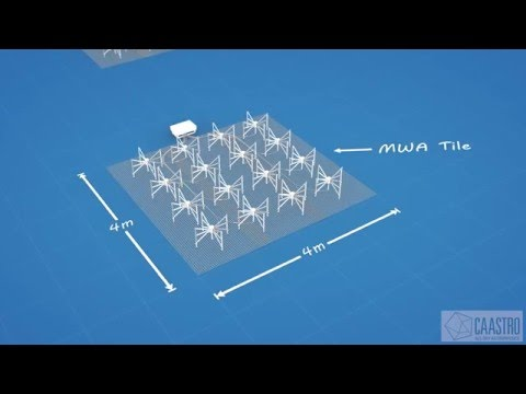 How large is the Murchison Widefield Array (MWA) radio telescope?