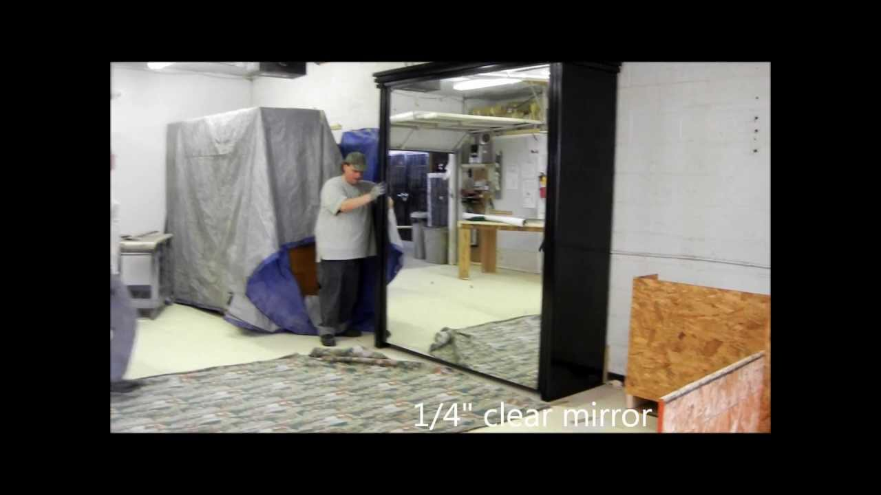 California King Murphy Bed with Mirror Front   YouTube