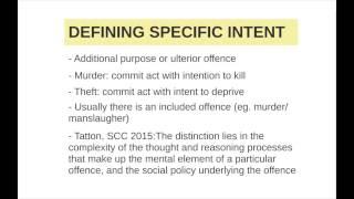 Criminal Law Capsule: Intoxication