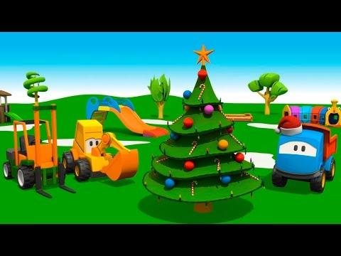 Видеозапись 3D мультфильмы для детей - грузовичок Лёва и Новый Год - мультик конструктор Новогодняя Елка