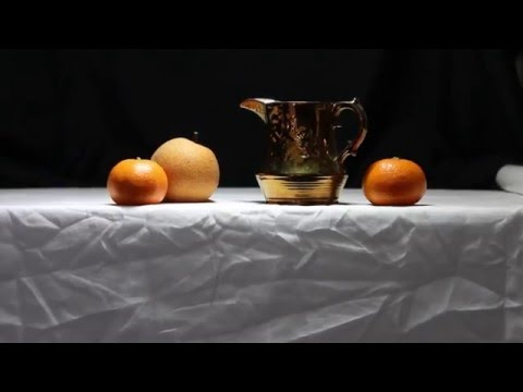 LESSON: Real-Time Oil Painting Lesson - Shiny Copper Pitcher & Fruit Still Life