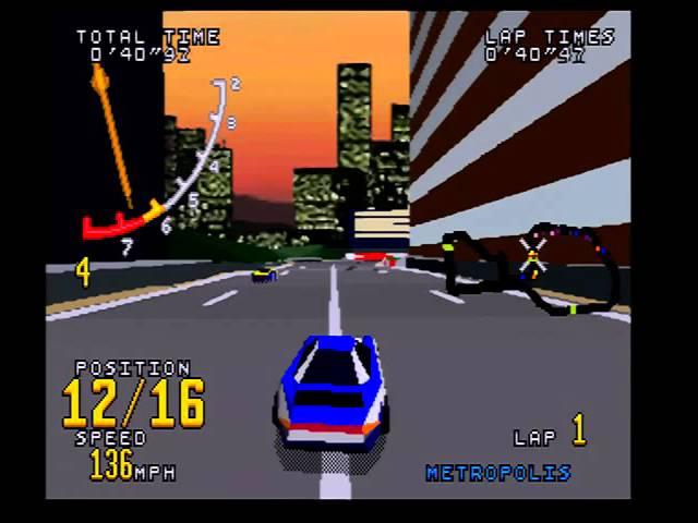 Virtua Racing (Saturn) Acropolis, Metropolis