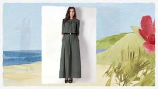 видео платья с длинным рукавом