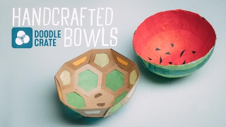 Handcrafted Paper Bowls from Doodle Crate