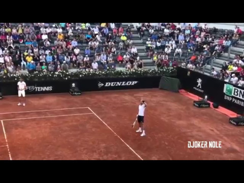 Novak Djokovic First Practice - Rome 2017 (HD)