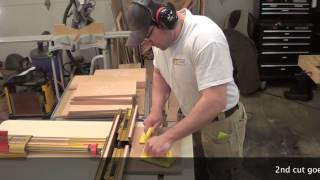 Building Kitchen Cabinets Part 15.  Making The Raised Panels For The Base Cabinet Doors.