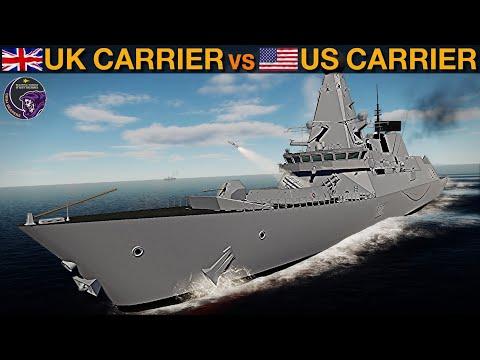 UK Carrier Strike Group CSG21 vs US Battle Carrier Group (Vid 26) | DCS WORLD