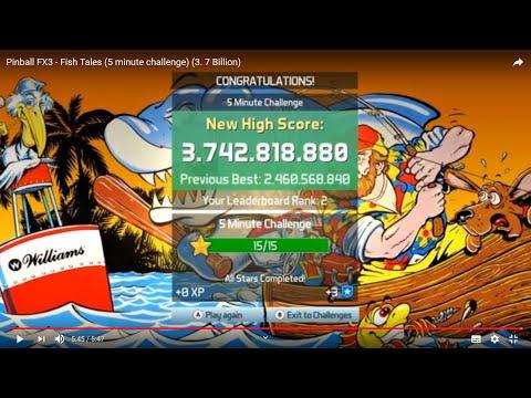 Pinball FX3 - Fish Tales (5 Minute Challenge) (3. 7 Billion)