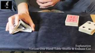 Vernon One Hand Table Shuffle // Tutorial Now everyone can do this!