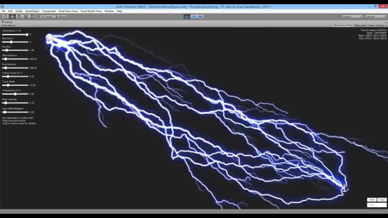 Line Drawing Unity : Procedural lightning for unity youtube