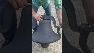 "Antique C S BELL Co #3 Cast Iron BELL 18"" Dia.School Farm Church"