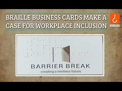 Braille business cards make a case for workplace inclusion youtube colourmoves