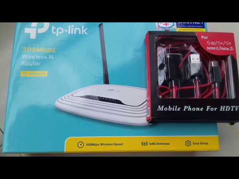 ▶▶🎁Tp-Link WR841N📡 ↔ MHL Cable📺 UNBOXING.....💝 ON Bangla
