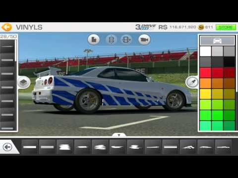 Real Racing 3 Tuning  Paul Walker's Fast and Furious Skyline GTR R34