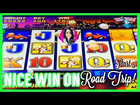 """👸🏽🤳🏽🎰 GQS """"ROAD TRIP"""" TO NEW YORK PAID OFF! (don't You Just Love The Older Slot Games?!)"""