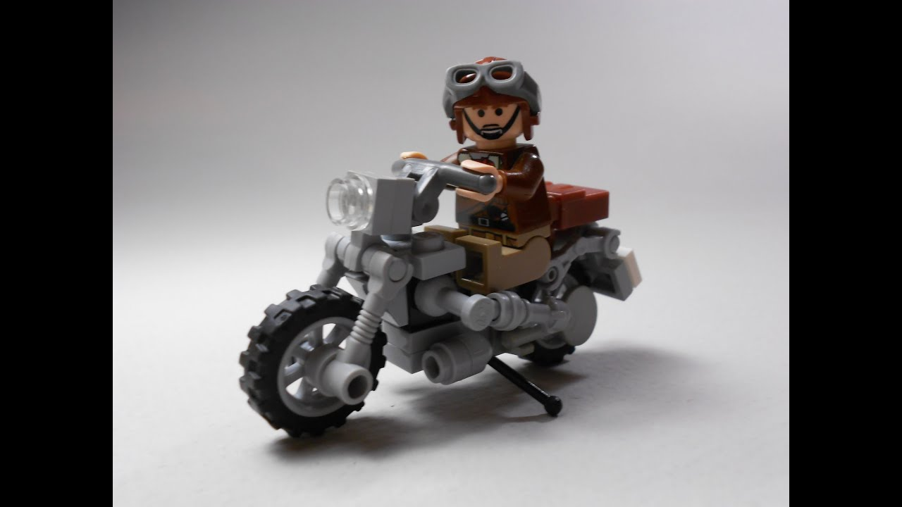 An example Lego motorcycle