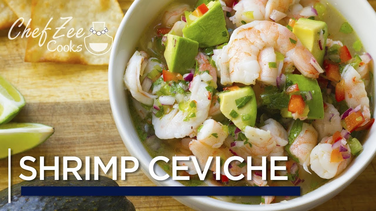 Shrimp Avocado Ceviche | Ceviche de Camaron | Made To Order | Chef Zee Cooks