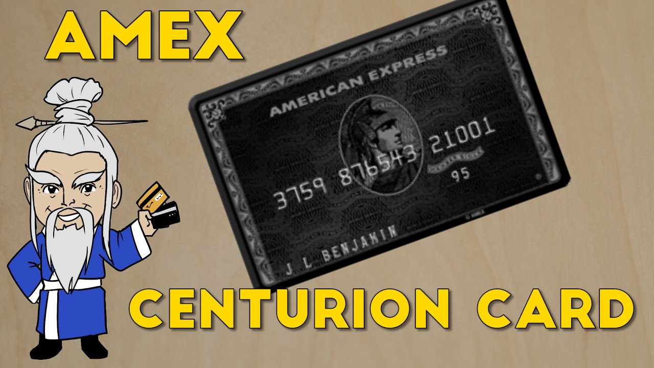 What is the Amex Centurion Card? And How to Get it! - YouTube