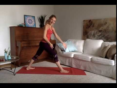 Easy yoga practice with focus on energy centres along spine for optimal flow of life energy