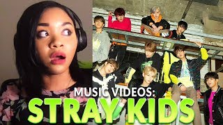 Reaction to Stray Kids Music Videos (Miroh, Hellevator, Side Effects, I am YOU, Double Knot)