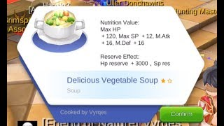 How to Create Delicious Vegetable Soup - Ragnarok Eternal Love Recipe Tutorial