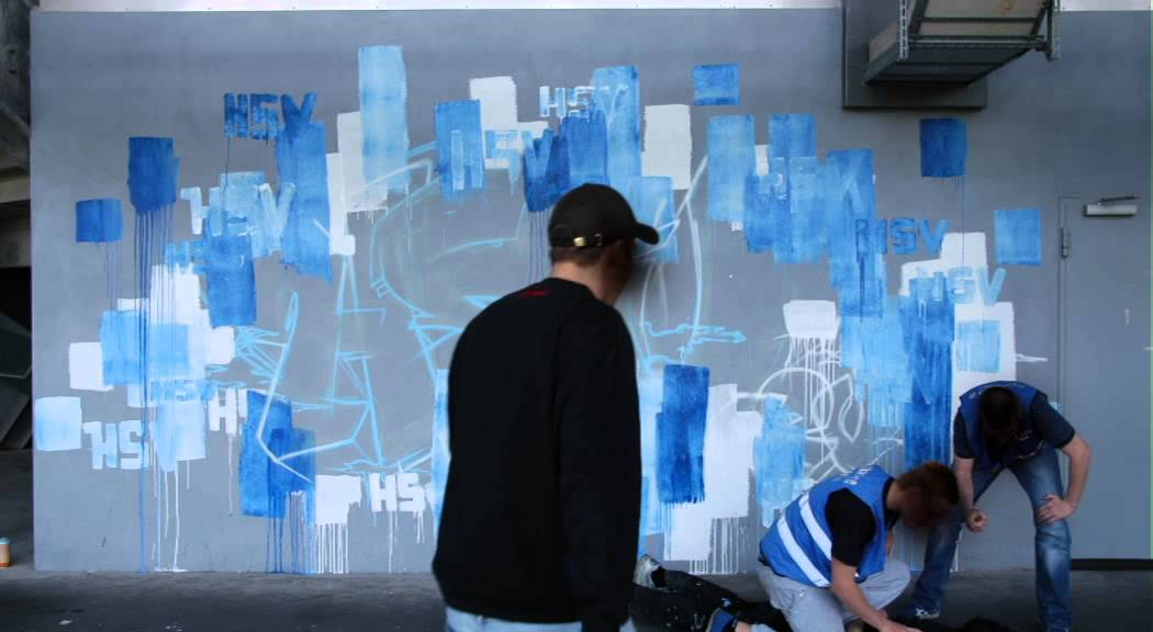 CFHHTV: HSV e.V. GRAFFITI IM VOLKSPARKSTADION HAMBURG