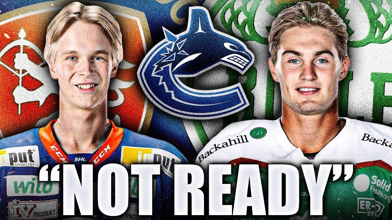 Re Nils Hoglander Is Not Ready For The Nhl Needs Another Shl Year Reminds Me Of Elias Pettersson Youtube