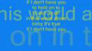 Backstreet Boys: If I don't have you (full CD quality with lyrics)