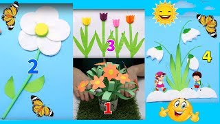 The idea handmade cotton flowers and remover easily | Activities For Kids #3