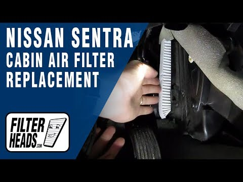 How To Replace Cabin Air Filter Nissan Sentra Youtube