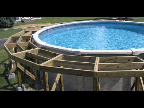 Part 3 Above Ground Pool Deck Construction Youtube