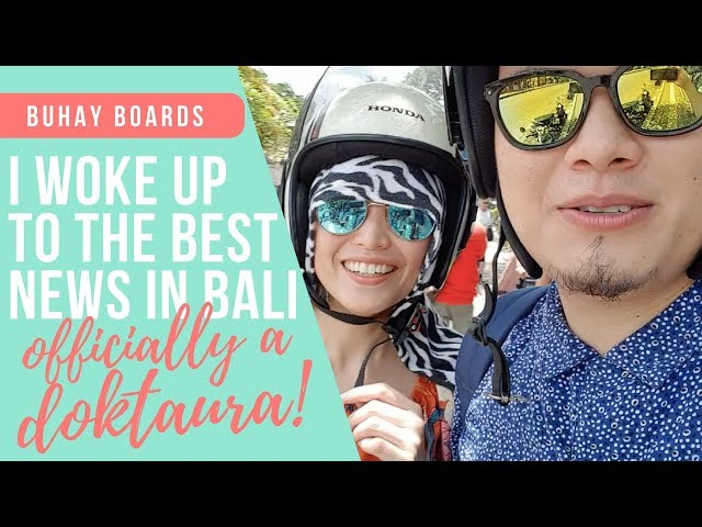 How I Found Out I Passed The Boards (BALI VLOG) // DoktAURA