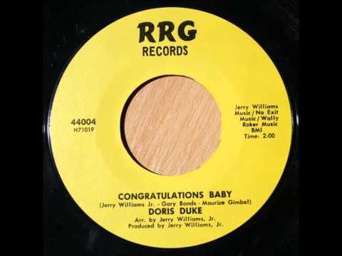 Doris Duke .... Congratulations Baby .  1969.