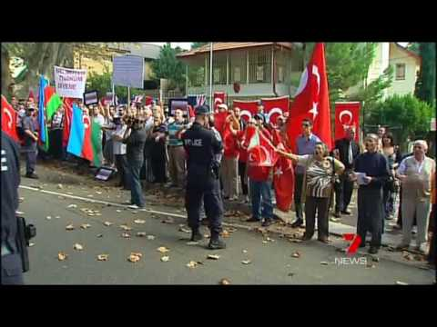 Channel 7 News covers Sydney Protest Against Turkish Denial of the Armenian Genocide
