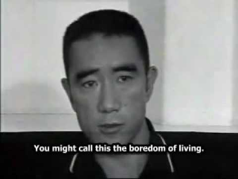 Yukio Mishima on death in democratic society