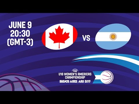 Canada vs Argentina - Group A - FIBA U16 Women's Americas Championship