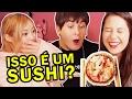 Japonesa reagindo a comida japonesa do Brasil ft ERINA e DAVE