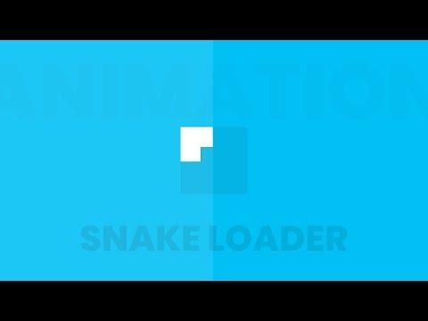 CSS3 Snake Border Loading Animation Effects 2 thumbnail