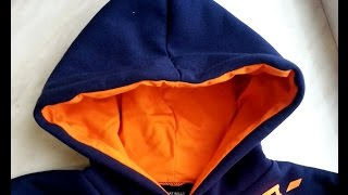 DIY Sweatshirt kangaroo hood part 3/4 sewing course bluza kangurka kaptur cz 3/4 dwuigła
