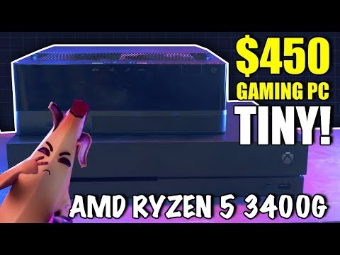 TINY $450 Gaming PC, Smaller than an Xbox - Ryzen 5 3400G Review
