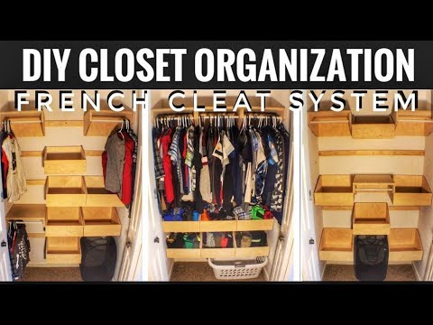 how to make a french cleat closet system woodworking. Black Bedroom Furniture Sets. Home Design Ideas
