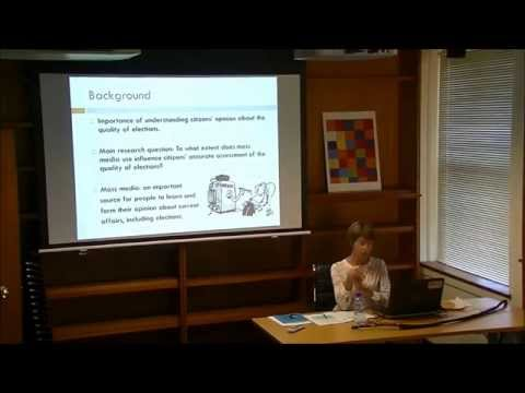 Hilde Coffe 'Mass media use and perceptions of electoral integrity' 6 May 2014