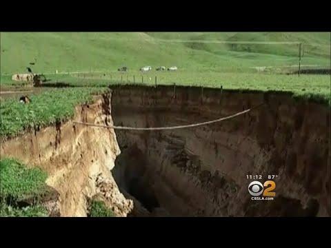 Giant Sinkhole Opens Up On New Zealand Farm