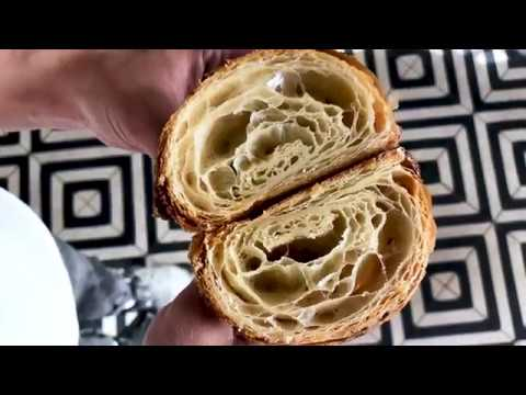 How The Sourdough Croissants Are Made At Mirabelle Bakery Youtube