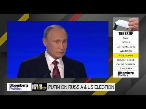 Vladimir Putin Denies Russian Meddling in U.S. Election