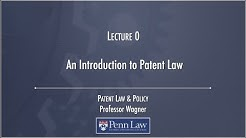 Lecture 00 - Introduction to Patents