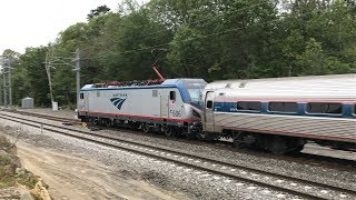 Amtrak HD 60fps: Northeast Regional & Acela Express @ Liberty Interlocking in Kingston (Horn Shows)