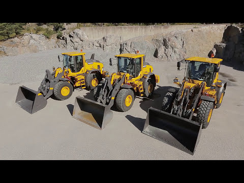 Video Walkaround Volvo L60H, L70H, L90H loading shovel: See clearer in comfort